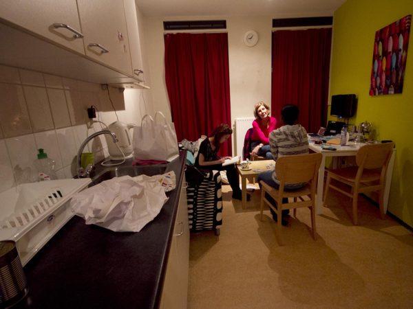 Keuken van de vrouwenopvang