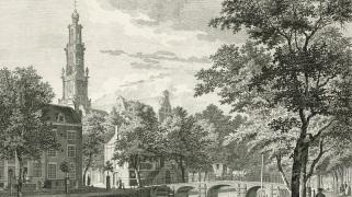 Gezicht op de Westerkerk te Amsterdam, Paulus van Liender, 1760