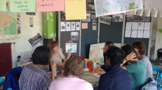 At work in social innovation lab with youth in Nijmegen.