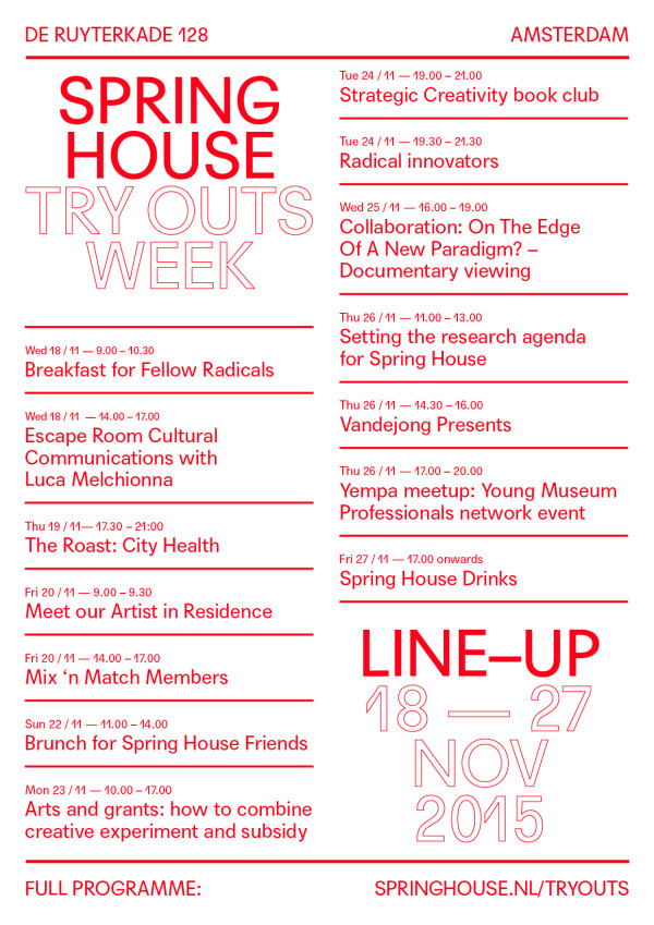 Click for the full programme!