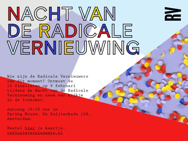 Nacht van de Radicale Vernieuwing invitation