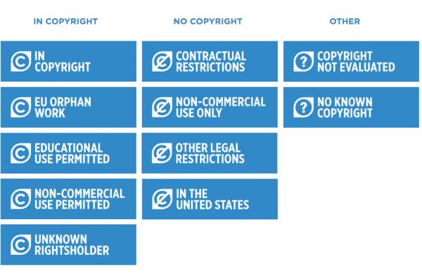 Dit zijn de elf rechtenstatements verdeeld over drie categorieën.