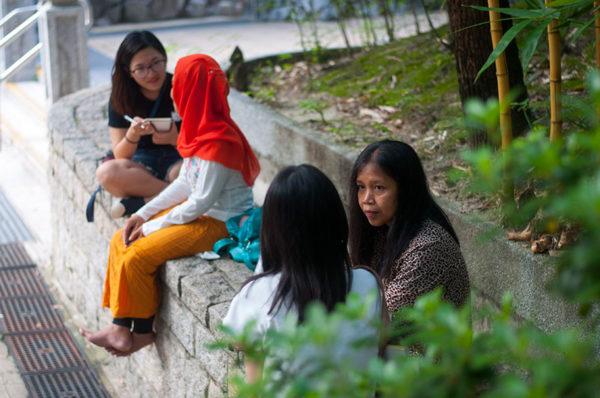 Verhalen ophalen tijdens social lab in Hong Kong.