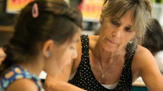 Still uit de film 'De Kinderen van juf Kiet' over de nieuwkomersgroep op een school in Hapert.
