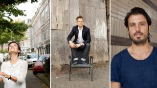 Het nieuwe bestuur van KL: Nora van der Linden, Paul Keller en Kimon Moerbeek.