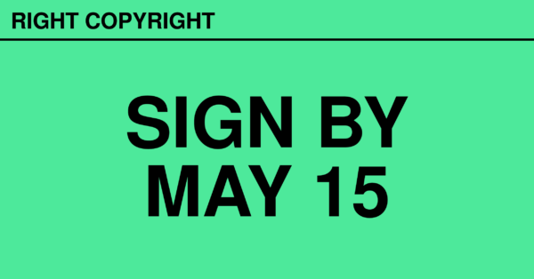 rightcopyright sign by may 15