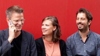 Het nieuwe KL-bestuur: Paul, Nora en Kimon