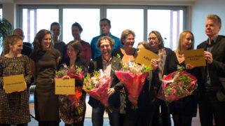 De winnende schoolmakers van project Onze Nieuwe School (op links Klein Amsterdam).
