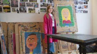 Tijdens de leertijduitbreiding werken de leerlingen van de Vierambacht aan kunstprojecten.