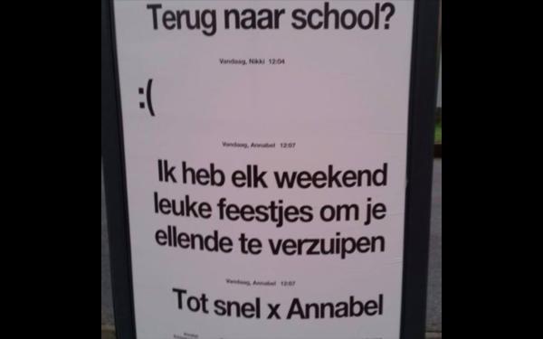 Leraren van de Broedplaats spraken de makers van deze poster aan.
