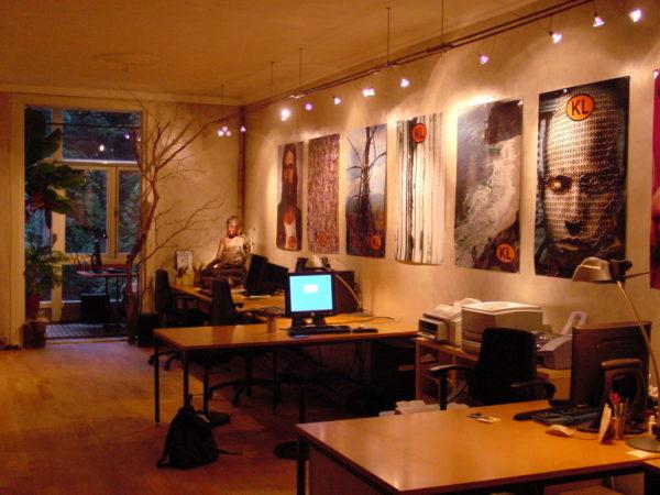 Het eerste kantoor van Kennisland aan de Van Eeghenstraat in Amsterdam.