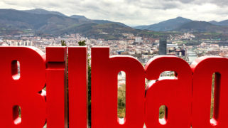 Bilbao seen from Mount Artxanda, Spain
