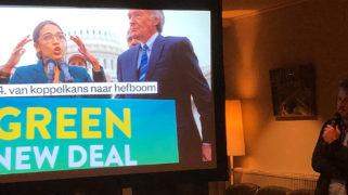 Thijs van Spaandonk verwijst naar de Green New Deal
