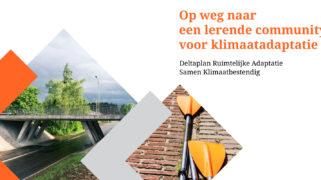 Cover van publicatie 'Op weg naar een lerende community voor klimaatadaptatie'