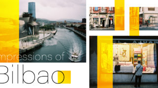 Different faces of the city of Bilbao