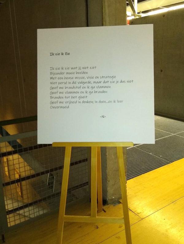 Openingsgedicht van de tentoonstelling
