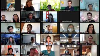 Videobellen met leraren in Hongkong