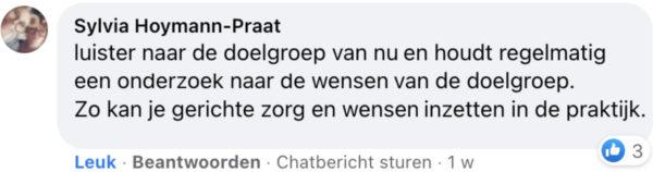 Facebook-reactie