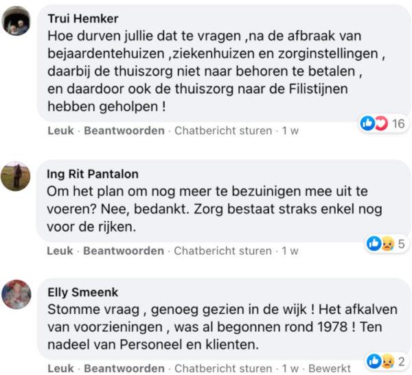 Facebook-reacties