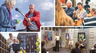 Met de klok mee: Stadsreporters (Charlotte Bogaert )| Club Goud (Henny van Roomen) | Stichting JOW | Levensluister