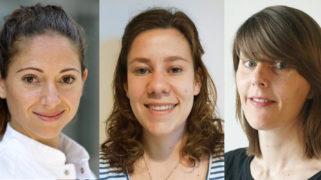 Studenten Linda Bayoumi, Martine Vis en dr. Lieselot Vandenbussche